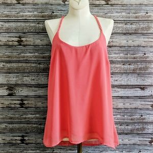 5/$25 Charlotte Russe | Coral Braided Y-Back Tank